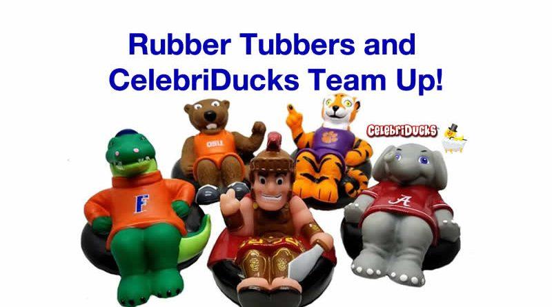 rubbertubbers mascots celebriducks