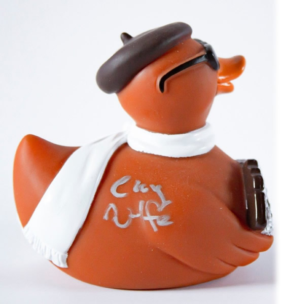 ARE signed first edition Cocoa Canard Rubber duck