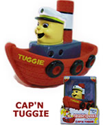 Cap'n Tuggie custom designed toy tug boat promotional giveaway